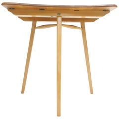 Ercol Plank Top Writing Desk Compact Occasional Table Midcentury