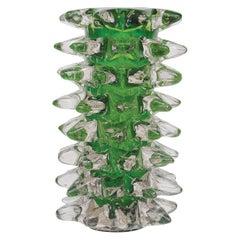 """Ercole Barovier 1938 Vetri """"Rostrati"""" Emerald Green, Murano Glass"""