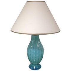 Ercole Barovier for Barovier & Toso Rare Aqua Blue Lamp