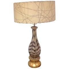 Ercole Barovier for Barovier and Toso Rare Graffito Lamp
