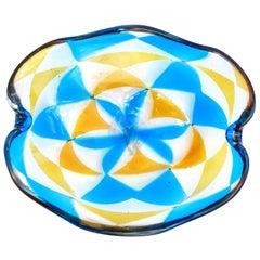 Ercole Barovier Murano Intarsio Mosaic Triangle Tessere Italian Art Glass Bowl