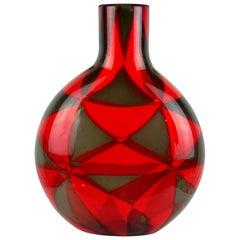 Ercole Barovier Murano Intarsio Mosaic Triangle Tessere Italian Art Glass Vase