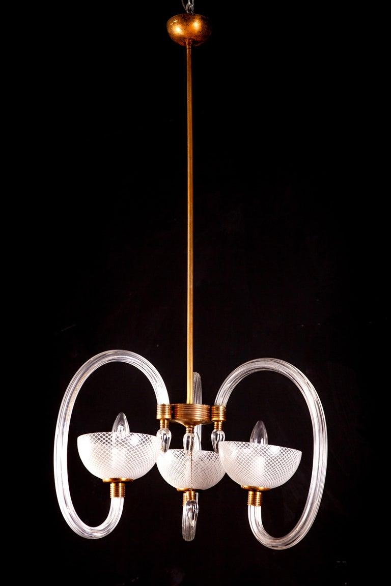 20th Century Ercole Barovier Precious Murano Chandelier