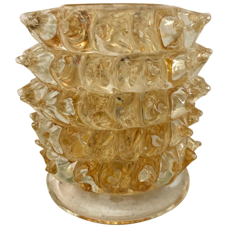 Ercole Barovier Small Rostrato Vase For Sale