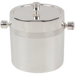 Ercuis France 1970s Silver Plate Ice Bucket Cooler