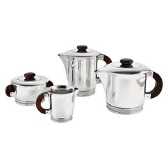 Ercuis French Art Deco Silver Plated Tea-Coffee Set, 1930