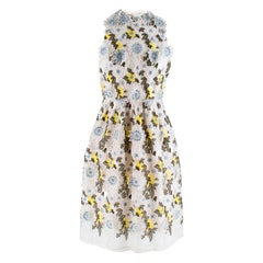 Erdem Dina Silk-organza Floral-embroidered Dress M