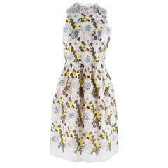 Erdem Dina Silk-organza Floral-embroidered Dress - Size US 8