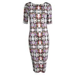 Erdem Floral Mirror Image Print Silky Jersey Dress
