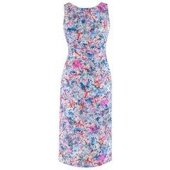 Erdem Floral Print Cut Out Midi Dress UK 8