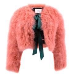 Erdem Ives Cropped Marabou Jacket (Size: US 6/S)