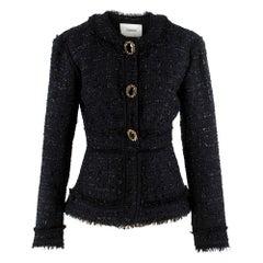 Erdem karina metallic tweed peplum jacket US 4