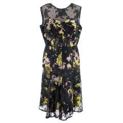 Erdem Lace Floral Cocktail Dress