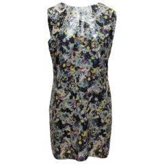 Erdem Navy & Multicolor 'Frula' Sequined Dress