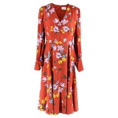 Erdem Osiris Printed Silk Dress M