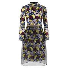 Erdem Phyllis Embroidered Organza Dress - Size US 4