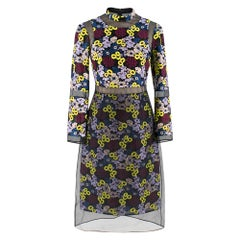 Erdem Phyllis Embroidered Organza Dress XS 8