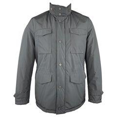 EREDI PISANO Navy Size M Padded Patch Pocket Winter Jacket
