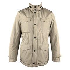 EREDI PISANO Size M Khaki Beige Padded Patch Pocket Winter Jacket