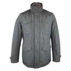 EREDI PISANO Size M Navy Padded Patch Pocket Winter Jacket