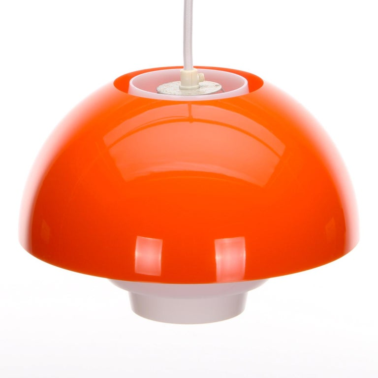 ERGO Orange Plexiglas Lamp by Bent Karlby ASK Belysning, 1971 In Good Condition In Brondby, Copenhagen