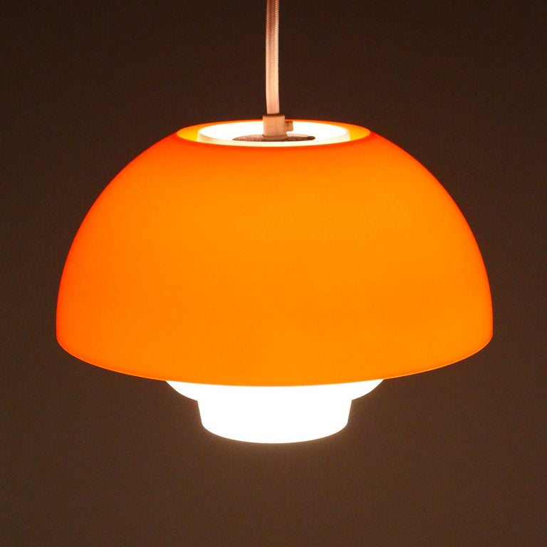 Late 20th Century ERGO Orange Plexiglas Lamp by Bent Karlby ASK Belysning, 1971