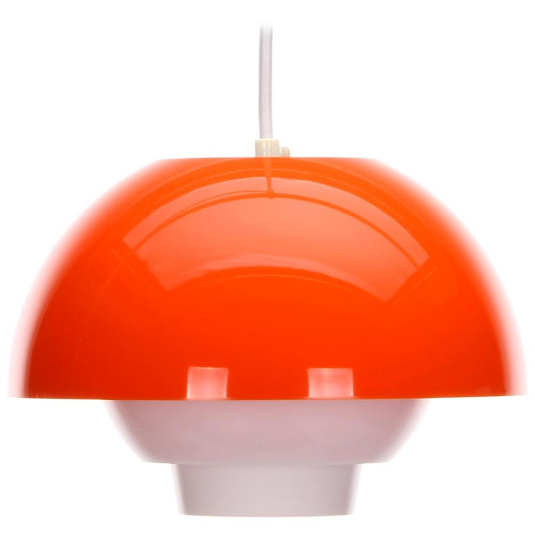 ERGO Orange Plexiglas Lamp by Bent Karlby ASK Belysning, 1971