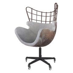 Ergonomic Egg Chair of Concrete for Urban and Minimalistic Interior, Modern