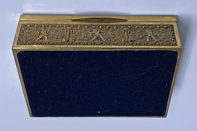 Erhard & Sohne Cherub Brass Box, Germany, circa 1920 For Sale 3