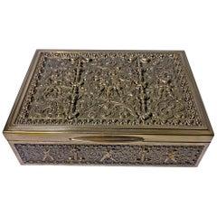 Erhard & Sohne Cherub Brass Box, Germany, circa 1920
