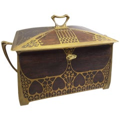 Erhard & Sohne Secession/Art Nouveau Rosewood Jewelry Casket