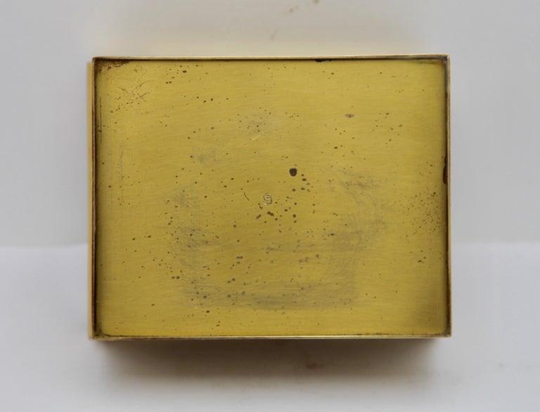 Erhard & Sons, Pair of Art Nouveau Brass Repoussé Boxes For Sale 7