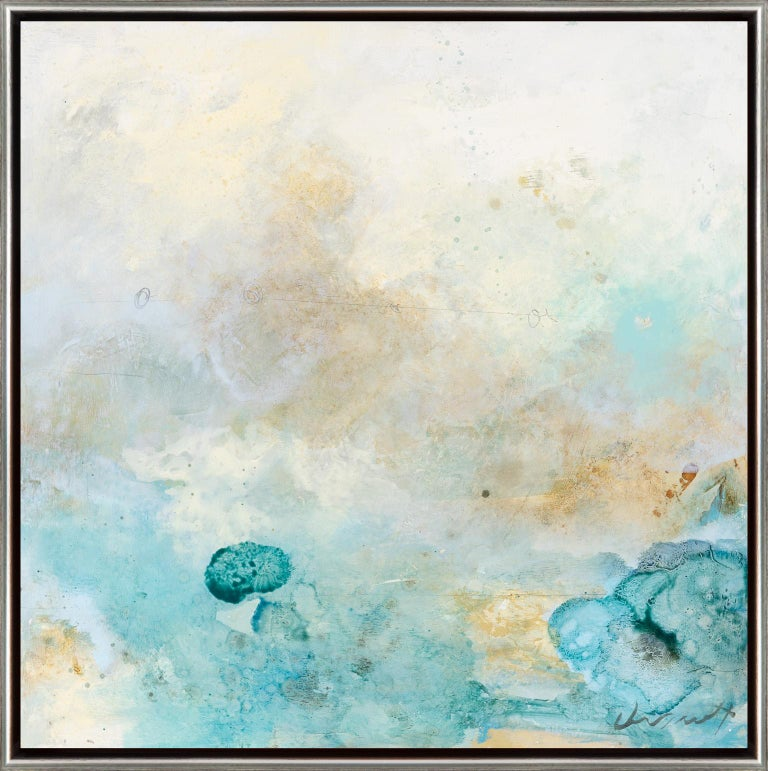 Aqua Variant 1 - Mixed Media Art by Eric Abrecht