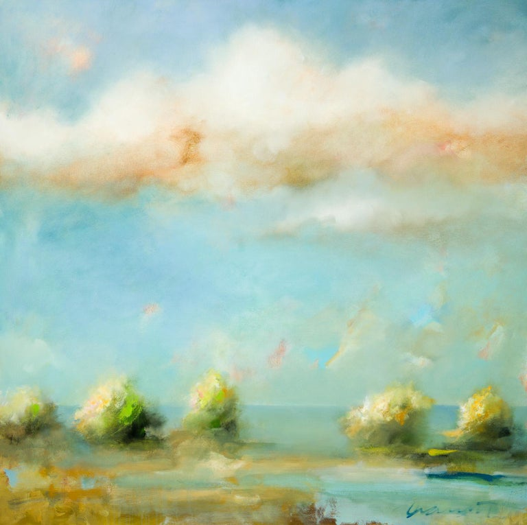 Golden Hour - Painting by Eric Abrecht