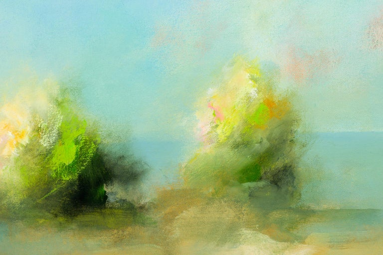 Golden Hour - Gray Landscape Painting by Eric Abrecht