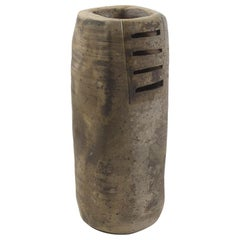 Eric Astoul, Ceramic Vase, Grand Cylindre Ajouré, La Borne, France, 2004