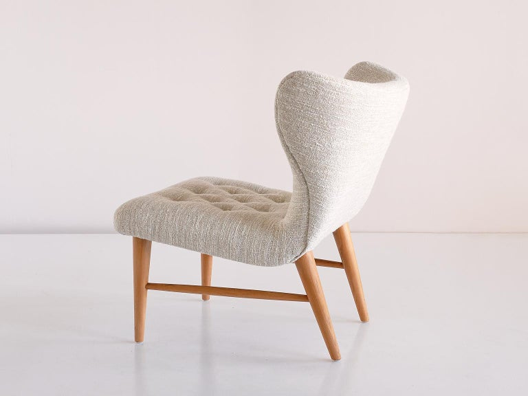 Eric Bertil Karlén Pair of Lounge Chairs, Sweden, 1940s For Sale 1