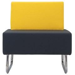 Eric Black/Yellow Armchair