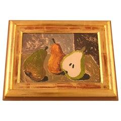 Eric Cederberg, Listed Swedish Artist, Still Life with Pears, Gouache/Cardboard