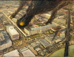 Ohio State Penitentiary Fire of 1930, Art of Disasters Series, Original Oil