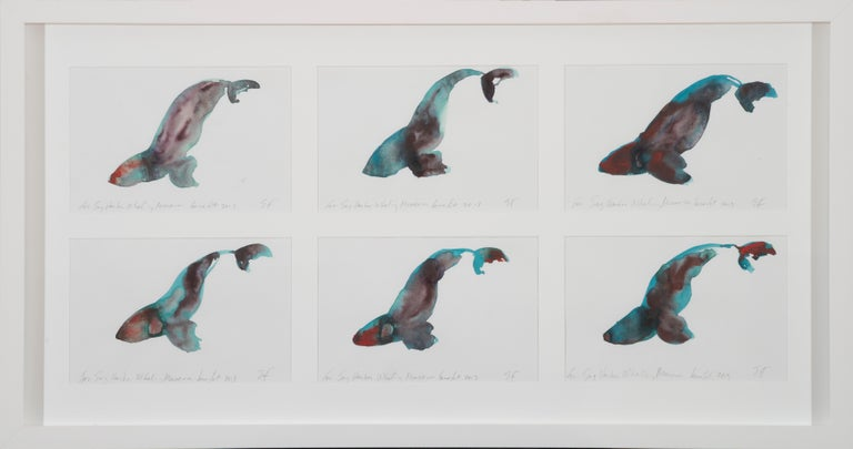 Eric Fischl Animal Painting - Whales I - VI