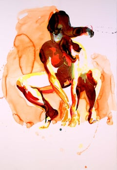 Eric Fischl, Crouching Woman, Pigment Print on Paper, 2012