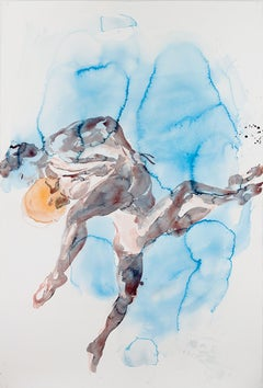 Eric Fischl, Dancer Suite (Blue Couple), pigment print on Somerset paper, 2013