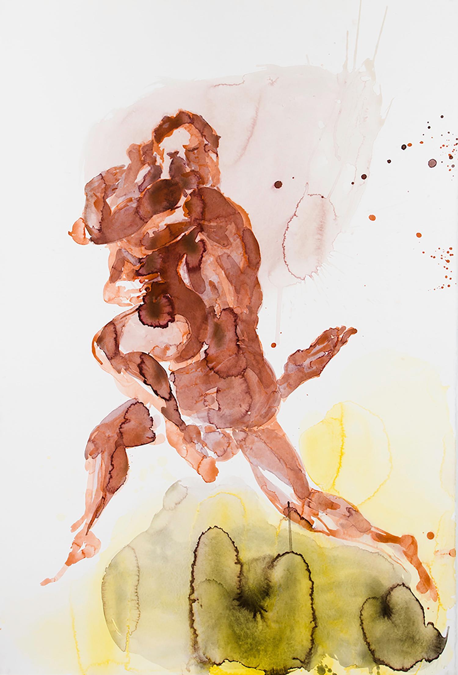 Eric Fischl, Dancer Suite (Red Couple), pigment print on Somerset Paper