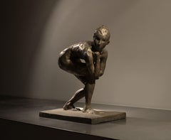Eric Fischl, Swimmer At Rest, Bronze, 1996