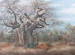 Eric Forlee (b.1949) - 1985 Oil, Baobab Tree, Africa