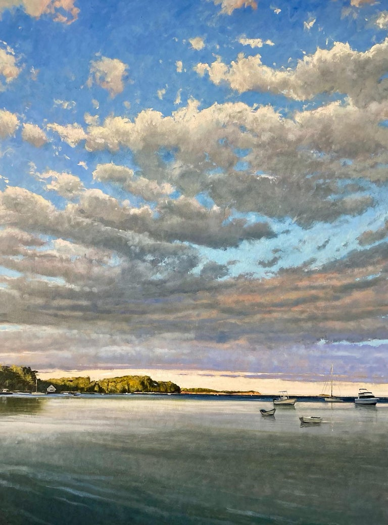 Pleasant Bay - Gray Still-Life Painting by Eric Forstmann