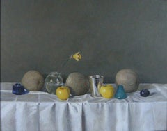 Still Life with Silver Cup and Melons