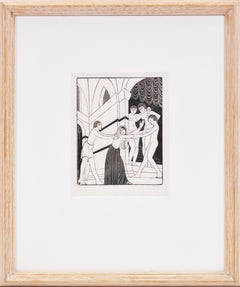 Eric GIll, The Harem, Wood engraving, 1925