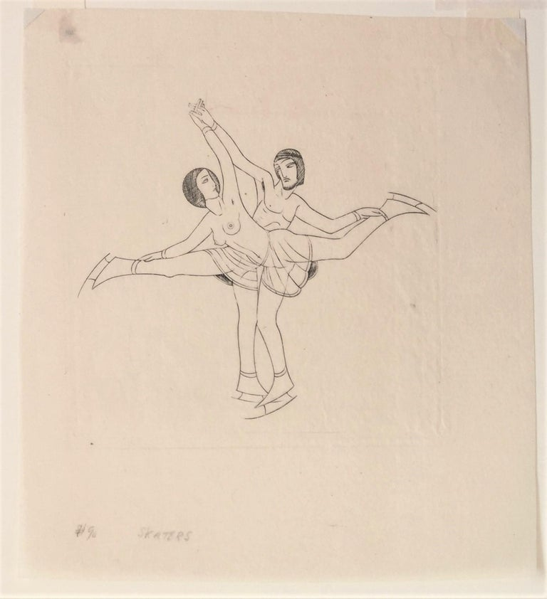Skaters - Print by Eric Gill